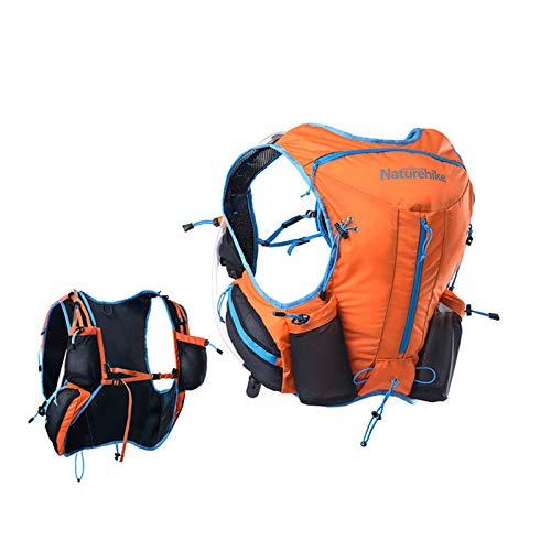 Naturehike Sac à Dos D'hydratation Imperméable Ultraléger - 12L Sac à Dos Marathon pour Randonnée Cyclisme Running(Orange)