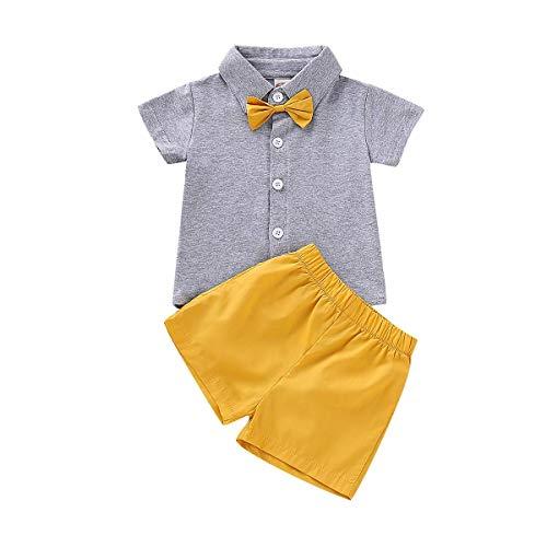 SunshineFace Conjunto de camisetas y pantalones cortos para bebés y niñas