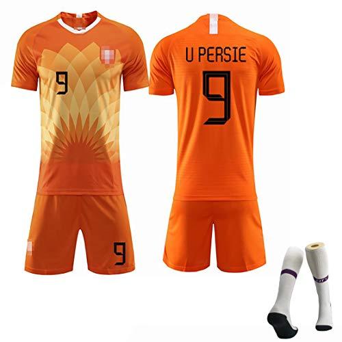 Kinderfußball-Sportanzug Trikot Niederländische Nationalmannschaft zieht Sich zurück Persie Nr. 9 Sneijder Nr. 10 Robben Nr. 11, 19-20 Männer Spieltraining Fußballuniform-orange9-24