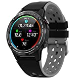 SMA-M6C Smart Watch for Android Phones with Blood Pressure Monitor Mens Watches Activity Fitness Tracker Smartwatch Build-in GPS Sports Smart Watches with Heart Rate Monitor Watch for Men (Black)