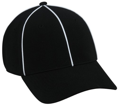 Referee Cap American Football Officials Schiedsrichter Kappe von CAP BUDDY ProFlex-Fit Passform Baseball Cap Schwarz (M-L)