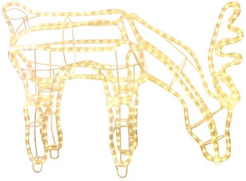 Star 802-29 3D Ropelight (Cordon Lumineux)-Silhouette Rennes, broutant 432 LED Blanc Chaud, ca. 59 x 85 cm, extérieur Box