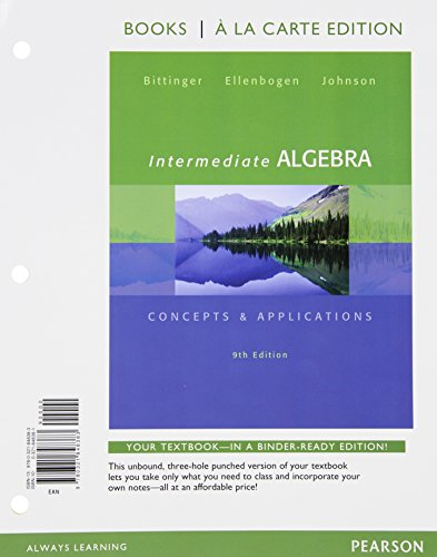 Intermediate Algebra, Books a la Carte edition, Plus MyLab Math -- Access Card Package (9th Edition)