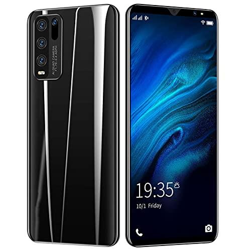 PENNY73 Y50 5.0inch Smartphone 4 + 64GB 4800mAh Batería Alta Deca Core CPU Teléfono Móvil 64MP Cámaras Traseras Teléfono Celular Solo para Estudiantes 4G,Black