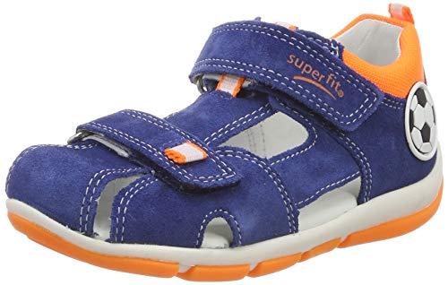 Superfit Baby Jungen Freddy Sandalen, Blau (Blau/Orange 80), 25 EU
