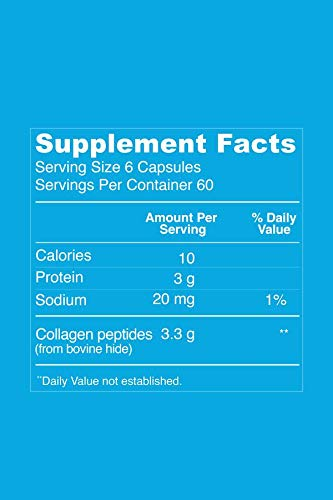412We 6Rk0L - Collagen Pills Supplement | 3300mg Serving with 360 Capsules | Vital Proteins Collagen Capsules - Help Support Healthy Hair, Skin, Nails, Joints