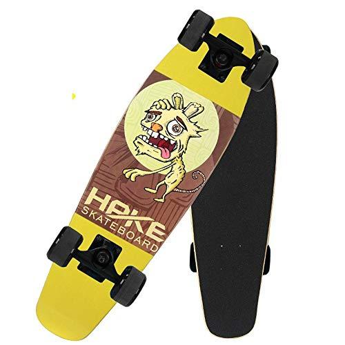 Love your life Skateboard Komplett 27inch Verwelkte Hund Skateboard