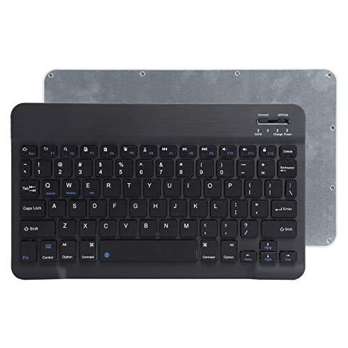 Teclado inalámbrico Bluetooth, Teclado silencioso Ultrafino Ultra Ancho para computadora de 10 Pulgadas, para Android/iOS/Windows(Negro)
