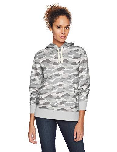 Amazon Essentials – Sudadera de tejido de rizo francés con capucha y forro polar para mujer, Verde (Grey Camo), US XL (EU 2XL)