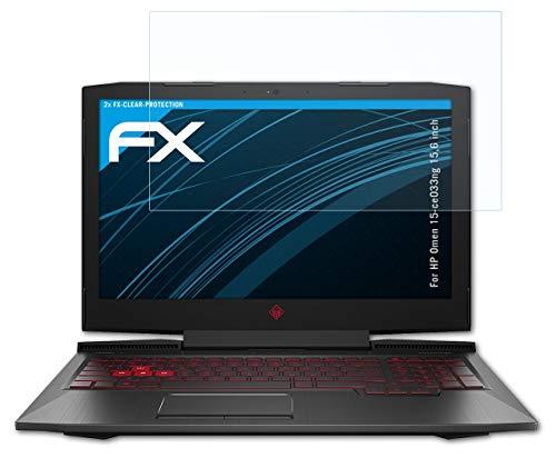 atFolix Schutzfolie kompatibel mit HP Omen 15-ce033ng 15,6 inch Folie, ultraklare FX Bildschirmschutzfolie (2X)