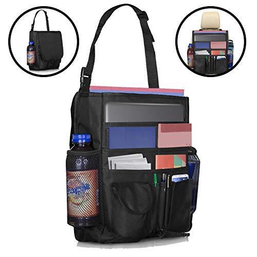 Lebogner Car Front Seat Organizer, Travel Accessories, iPad, Tablet, And Laptop Car Office Organizer, Backseat Food & Toys Storage Organizer Caddy For Adults & Kids, Law Enforcement, Police Patrol Bag