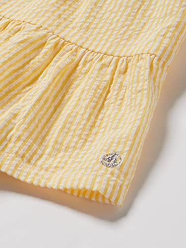 Petit Bateau 5967501 Vestido, Shine/Marshmallow, 24 Meses para Bebés