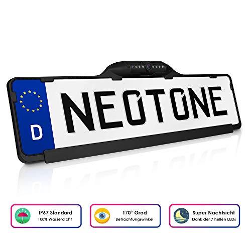 NEOTONE NTK-190Z universelle Rückfahrkamera in Kennzeichenhalterung | 170° Weitwinkelobjektiv | IP67 Feuchtigkeitsschutz | Höchste Qualität |