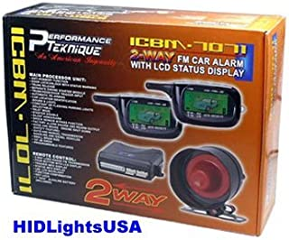 2-Way Car Alarm Security Alarm w/ LCD Status Display and Remote Engine Start
