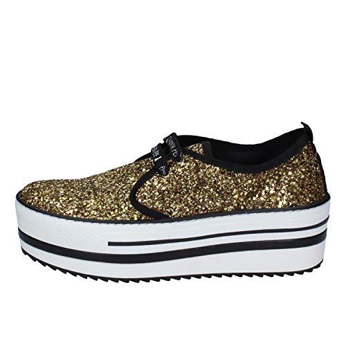 Patrizia Pepe Sneakers Damen Glitter Gold 40 EU