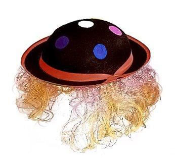 Cesar - 28001102 - Chapeau - Clown à Cheveux - Noir