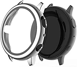 Miimall Compatible with Samsung Galaxy Watch Active 2 40mm Case with Screen Protector, Polished PC Case Bumper and Tempere...