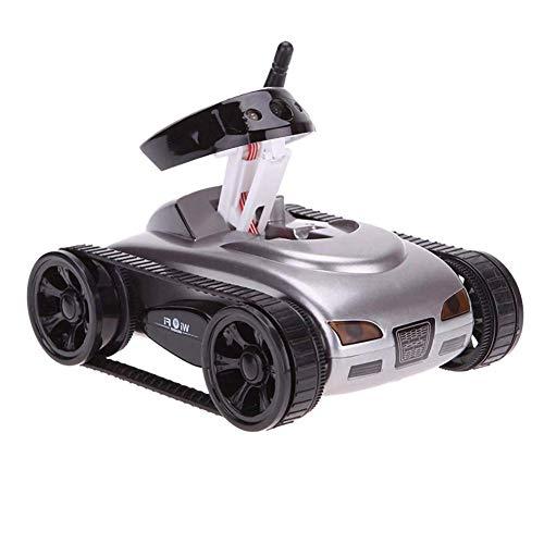UYZ Mini RC Car WiFi Tank Car Video 0.3MP Cámara WiFi Control Remoto por Robot con cámara 4CH, Plata