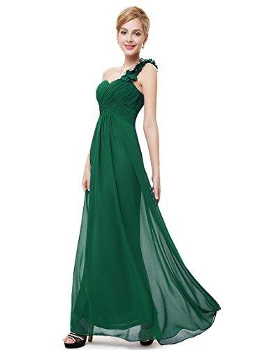Ever-Pretty Womens Flower One Shoulder Long Bridesmaids Dress 4 US Green