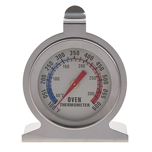 Yaootely Edelstahl-Backofen-Thermometer - Hang oder Stehen in Ofen