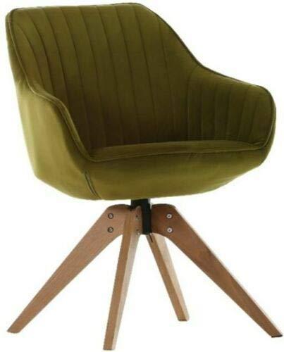 Gutmann Limited Sessel Chill Stoff Massivholz Natur Wohnzimmer Esszimmer (312/22 - Samtig Grün)