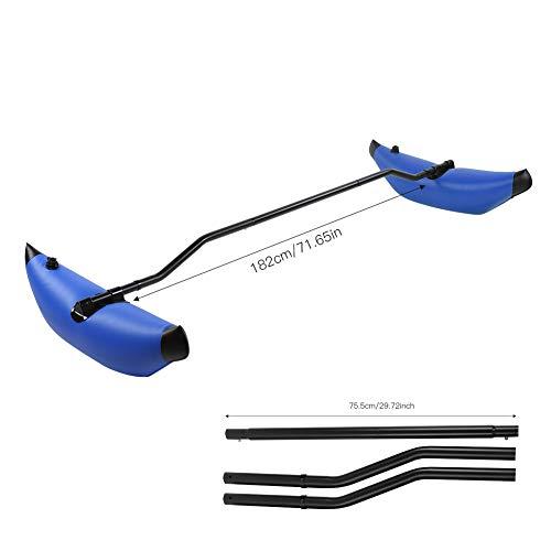 Wosune Estabilizador de Kayak, Accesorio para Bote de Canoa, Kit de estabilizador de Kayak, para Kayak Inflable Estable al Aire Libre, Accesorio para Bote de Equilibrio(Blue)