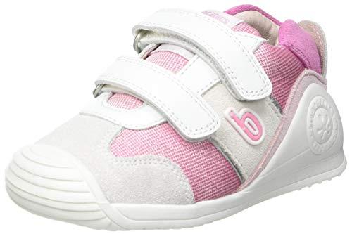 Biomecanics 212123-A, Zapatillas para Bebés, Blanco Y Fucsia (Sauvage Y Pique) 18 EU