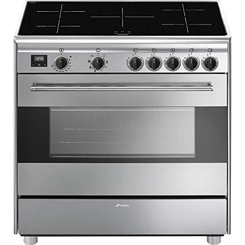 Smeg BG91IX9-1 - Cocina (Cocina independiente, Acero inoxidable, Botones, Giratorio, Cromo, Acero inoxidable, Frente)
