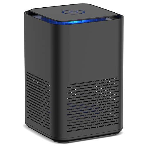 Nobebird Luftreiniger mit Echtem HEPA-Filter, Aromatherapie-Funktion, Schlafmodus und Nachtlicht, leiser USB-Luftfilter für Allergien, Rauch, Haustier, Pollen, Staub, Tragbarer Luftreiniger für 5-10㎡