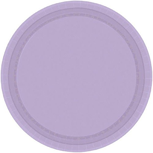 Lavender Round Paper Plates   7'   Pack of 20   Party Supply