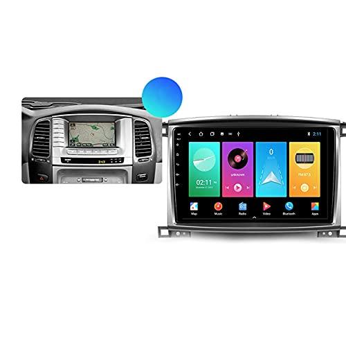 Android 10.0 Car Stereo 2 DIN Radio para T-oyota Land Cruiser 2007-2012 Navegación GPS 9 '' Unidad Principal Reproductor Multimedia MP5 Receptor de Video con 4G / 5G WiFi Carplay
