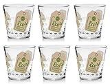 Cerve Set 6 Bicchieri Acqua o Vino da Tavola Nadia Green Bio