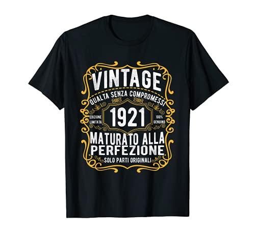 Vintage 1921 regalo divertente 100 anni compleanno Maglietta Maglietta
