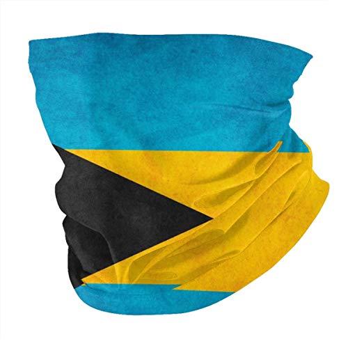 YANGPI Retro Bahamian Flag Neck Gaiter Face Bandana UV Sun Protection Mask, Headwear Scarf for Outdoor Fitness Running Cycling Motorcycling