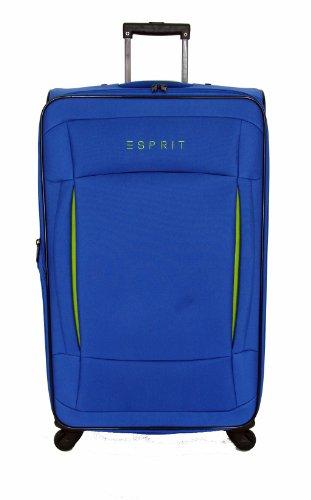 ESPRIT trolley colors 70 cm blue 16270 Blau 4 Rollen Reisetrolley Trolley Reisetasche Koffer Reisekoffer 93 L