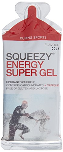 Squeezy Energy Super Gel Box, 12 Beutel à 33 g, Cola & Koffein