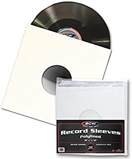 12 inch poly lined paper inner sleeves