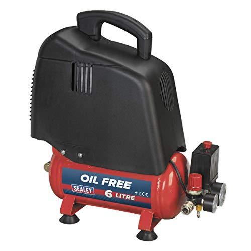Sealey SAC00615 - Transmisión por correa del compresor libre de aceite, 1,5 hp, 6 litros