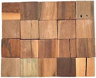 【訳アリ処分品】20個セット DIY 木材 チーク系ブロック材 角材 キューブ 無垢材 立方体 積み木 ブロック ディスプレイ 5㎝×5㎝×5㎝【ワールドデコズ】