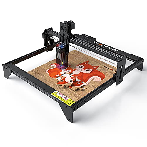 Laser Engraver, NASUM 5.5W A5 Pro Fixed Focusing Laser Engraving Cutting Machine,Compressed Spot LD CNC,410x400mm Large Engraving Area,Fast High Precision Cut Engraver for Metal,Wood,Vinyl,Leather etc