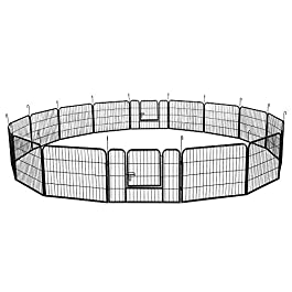 Yaheetech Extra Large Dog Play Pen Pet Playpen For Cat Rabbit Duck Indoor/Outdoor