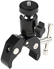 Baoblaze Spännstativ Magic Arm 360° kamerastativ länkarm superklämma artikulerande med het sko för DSLR-kamerasystem, LCD-skärm, DV-skärm