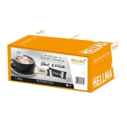 Restposten: HELLMA Feines Gebäck Black & White, Sie erhalten 1 Packung, Packungsinhalt: 200 Stück