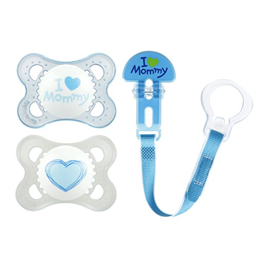 MAM Clear 0-6 Months Pacifiers Value Pack