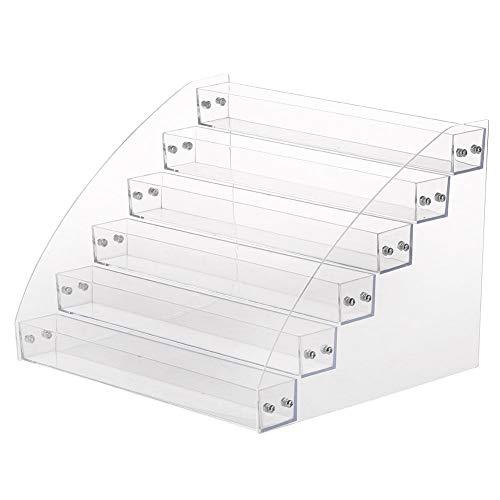 Kimilike 7-Step Nagellak Organizer Met Zilveren Schroeven - Acryl Nagellak Houder - Opslag Plank Voor Emaille Stands Voor Tot 58 Nagellak Flessen In Standaardformaat