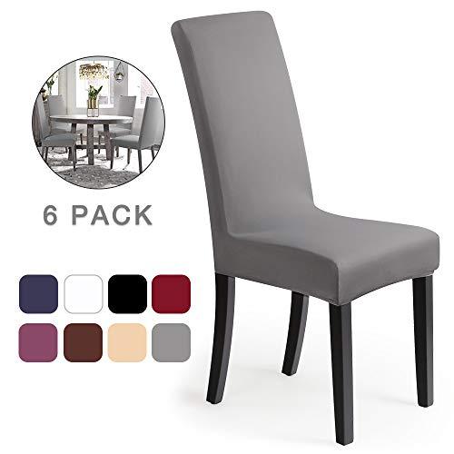 coprisedie con schienale 6 pezzi Elasticizzato Copertura della sedia bi-elastico per una misura...