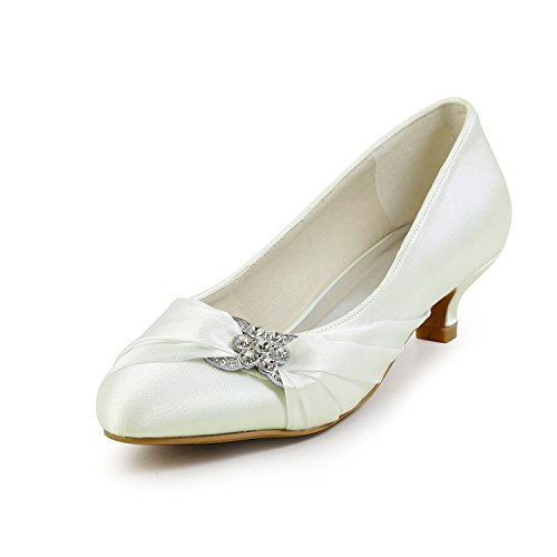 JIA JIA Wedding 01121 Hochzeitsschuhe Brautschuhe Damen Pumps Beige, EU 39