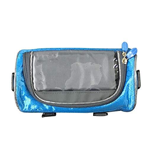 Bolsa impermeable para cuadro de bicicleta con correa para el hombro, soporte para teléfono de bicicleta, gran capacidad para cualquier smartphone de 6,5 pulgadas