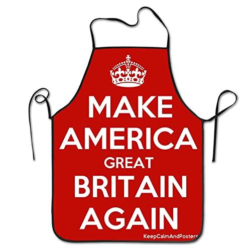 Delantal de cocina Make America Gran Bretaña Chef Delantal para mujeres y hombres