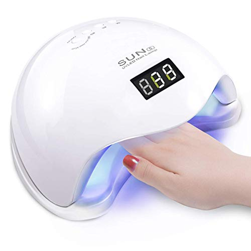 Vinteky® 48W Secador de uñas Lámpara LED Manicura Lámpara solar de uñas LED de Infrarrojos Sensores UV Máquina de la Terapia de Luz Apto para uñas de manos y pies